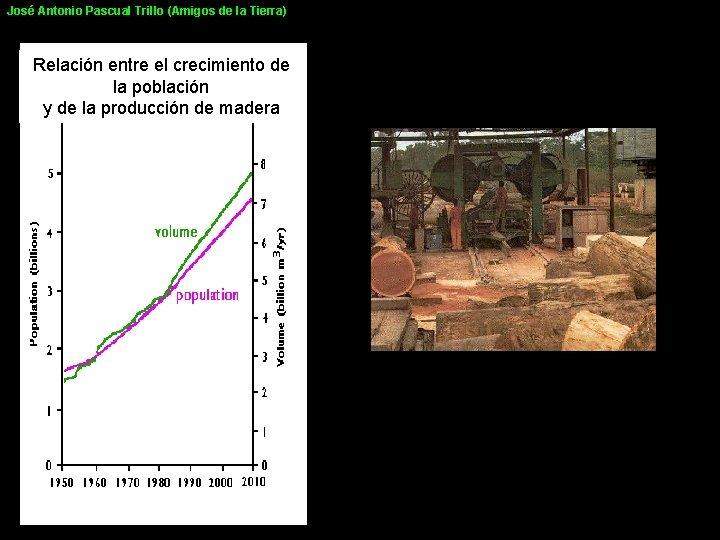 José Antonio Pascual Trillo (Amigos de la Tierra) Relación entre el crecimiento de la