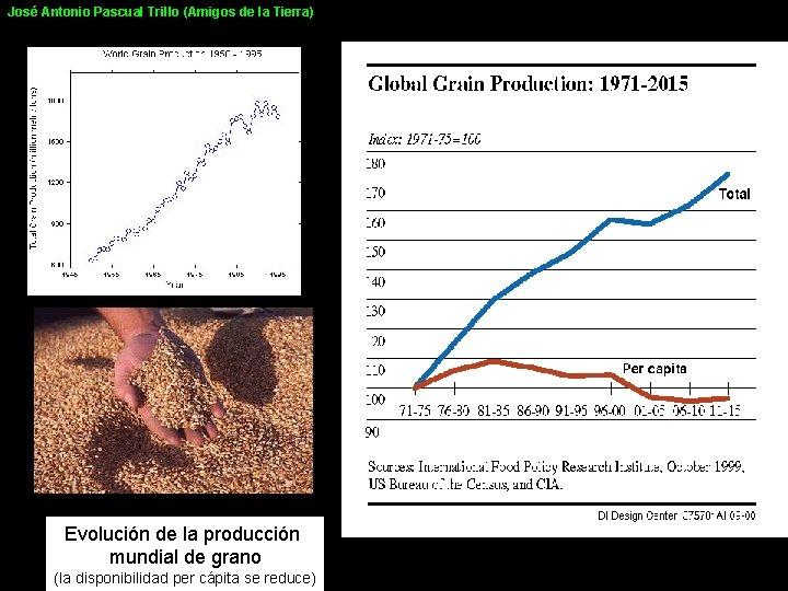 José Antonio Pascual Trillo (Amigos de la Tierra) Evolución de la producción mundial de