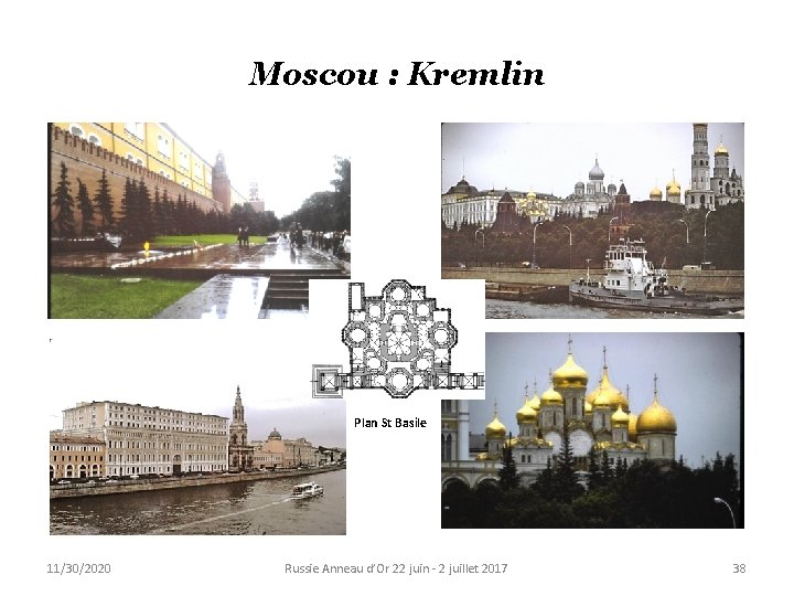Moscou : Kremlin Plan St Basile 11/30/2020 Russie Anneau d'Or 22 juin - 2