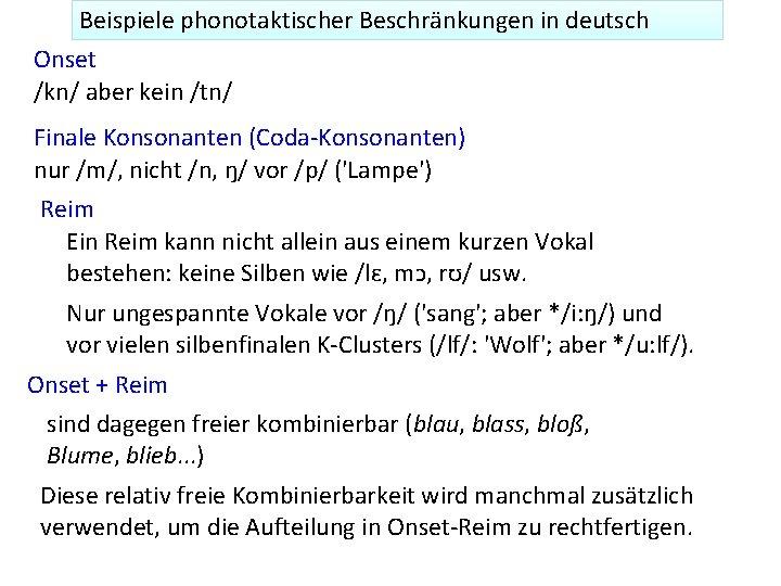 Doppelte Konsonanten 6