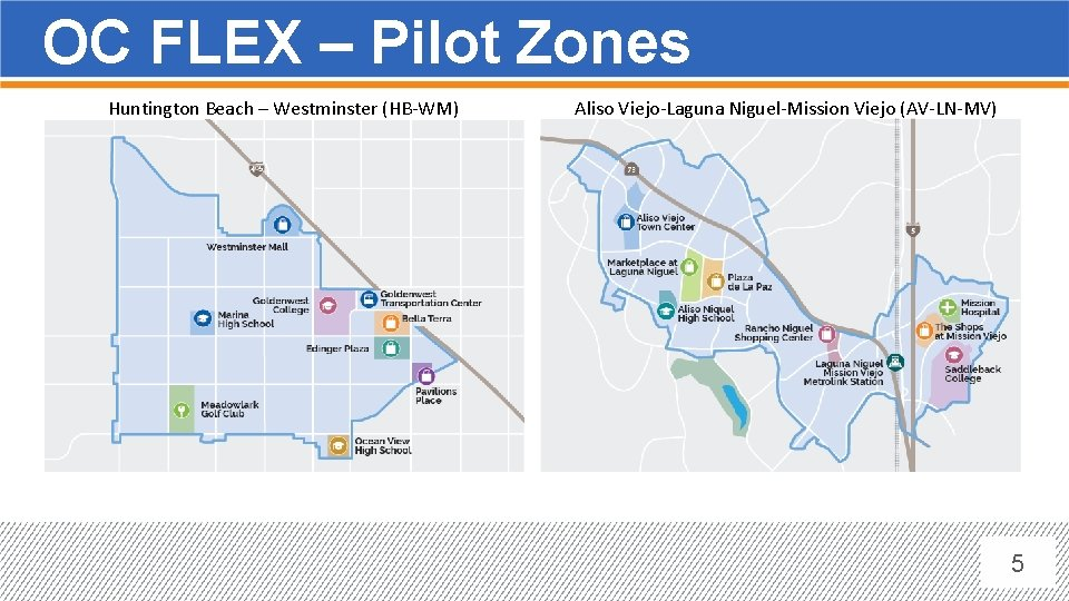 OC FLEX – Pilot Zones Huntington Beach – Westminster (HB-WM) Aliso Viejo-Laguna Niguel-Mission Viejo