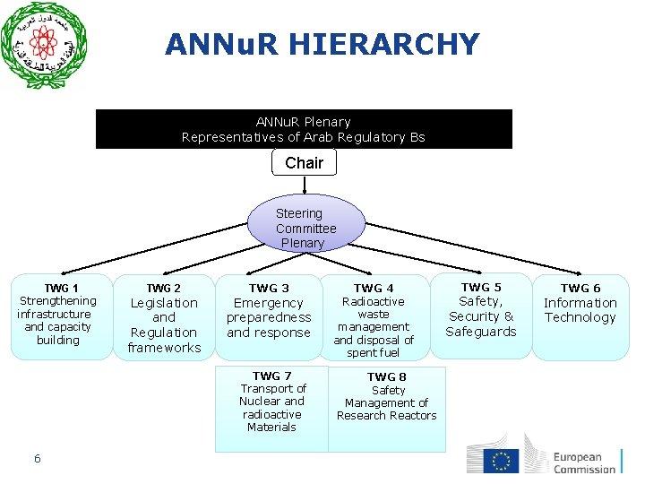 ANNu. R HIERARCHY ANNu. R Plenary Representatives of Arab Regulatory Bs Chair Steering Committee