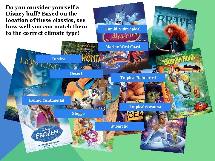 Do you consider yourself a Disney buff? Based on the location of these classics,