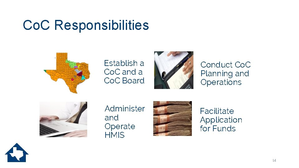 Co. C Responsibilities Establish a Co. C and a Co. C Board Conduct Co.