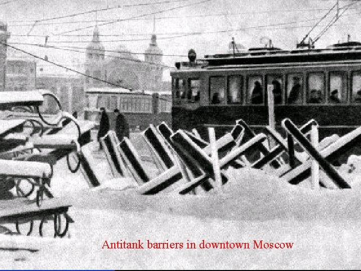 Antitank barriers in downtown Moscow