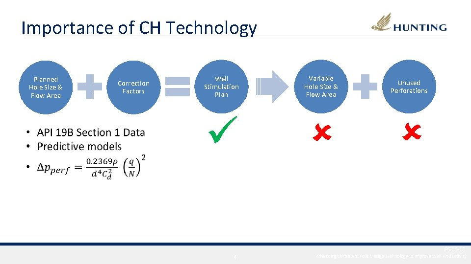 Importance of CH Technology Planned Hole Size & Flow Area Correction Factors Well Stimulation