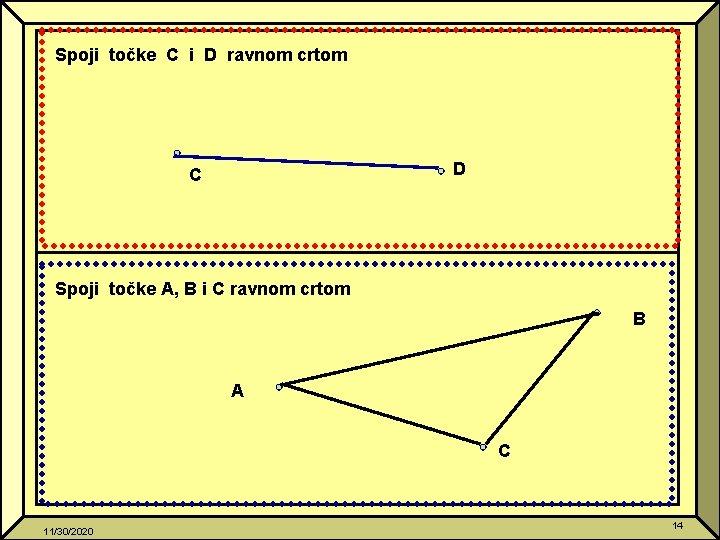 Spoji točke C i D ravnom crtom D C Spoji točke A, B i