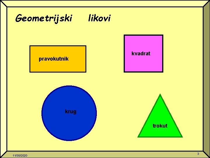 Geometrijski pravokutnik likovi kvadrat krug trokut 11/30/2020 3