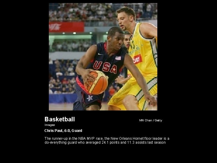 Basketball MN Chan / Getty Images Chris Paul, 6 -0, Guard The runner-up in