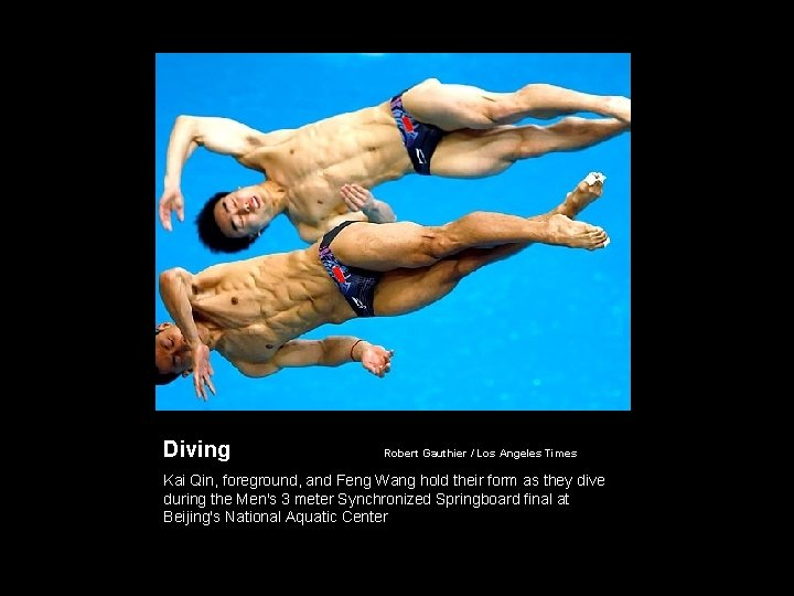 Diving Robert Gauthier / Los Angeles Times Kai Qin, foreground, and Feng Wang hold