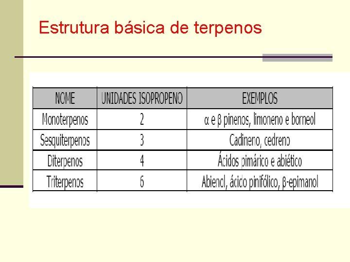 Estrutura básica de terpenos