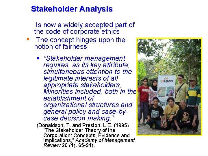 Tourism Management in in the GMS November-December November- December 2009, 2006, Cambodia Stakeholder Analysis