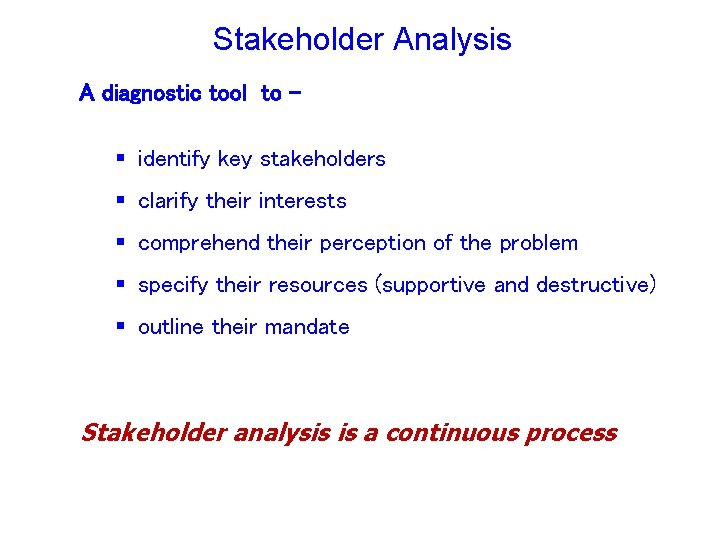 Stakeholder Analysis Tourism Management in in the GMS November-December November- December 2009, 2006, Cambodia