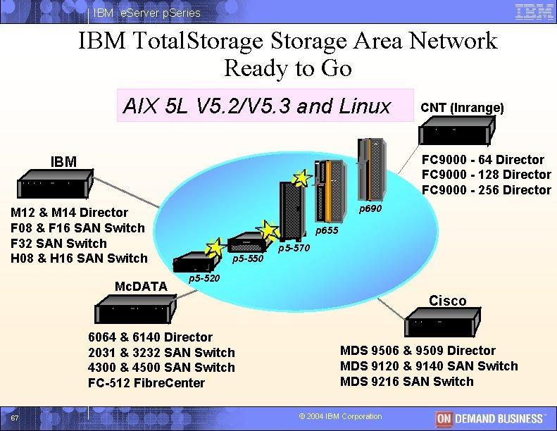 IBM e. Server p. Series IBM Total. Storage Area Network Ready to Go AIX