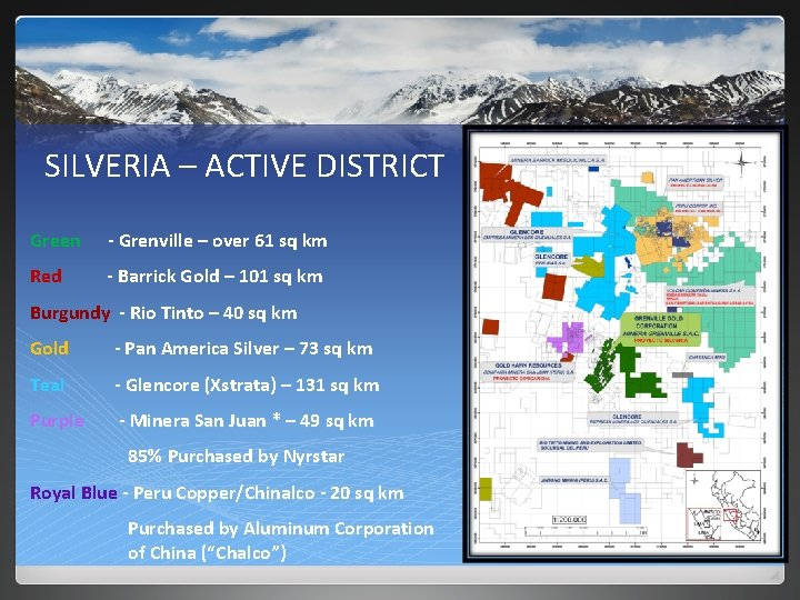 SILVERIA – ACTIVE DISTRICT Green - Grenville – over 61 sq km Red -