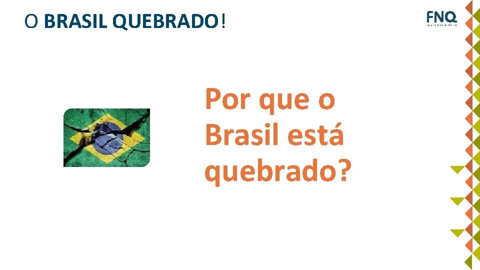 Por que os empreendimentos fracassam? O BRASIL QUEBRADO! Por que o Brasil está quebrado?