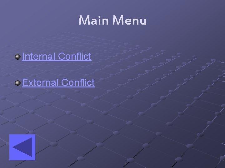 Main Menu Internal Conflict External Conflict