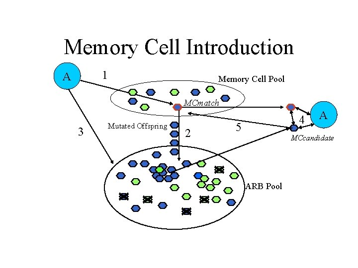 Memory Cell Introduction 1 A Memory Cell Pool MCmatch 3 Mutated Offspring 2 4