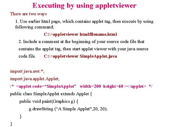 Applet Viewer Download