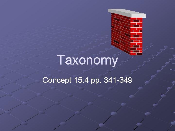 Taxonomy Concept 15. 4 pp. 341 -349