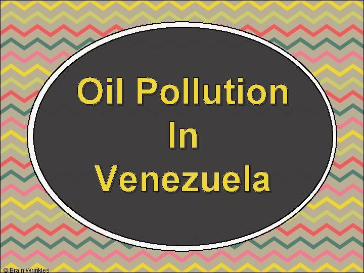 Oil Pollution In Venezuela © Brain Wrinkles