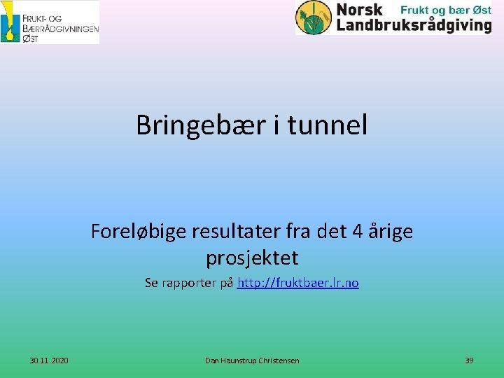 Bringebær i tunnel Foreløbige resultater fra det 4 årige prosjektet Se rapporter på http: