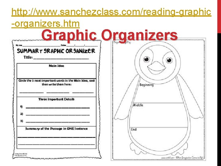 http: //www. sanchezclass. com/reading-graphic -organizers. htm Graphic Organizers