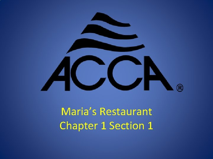 Maria's Restaurant Chapter 1 Section 1
