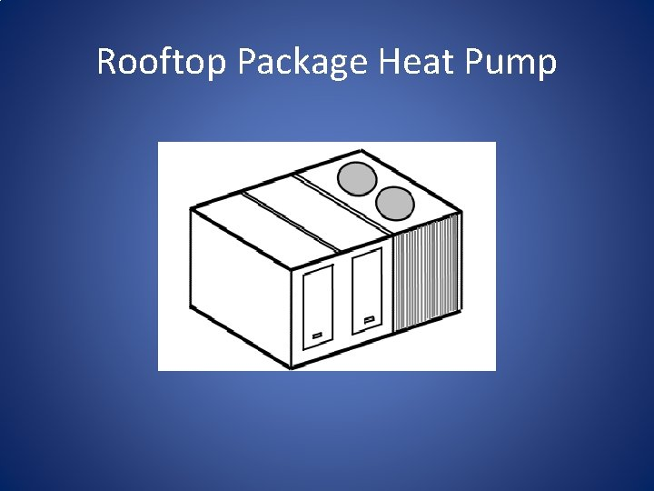 Rooftop Package Heat Pump