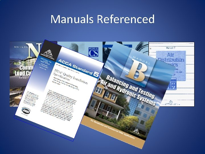 Manuals Referenced