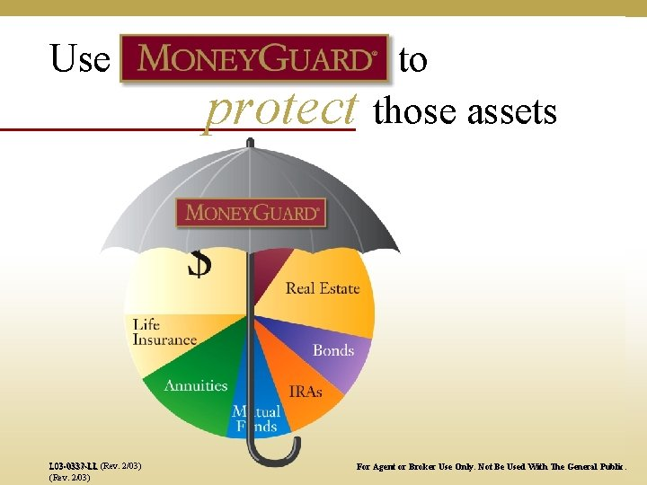 Use L 03 -0337 -LL (Rev. 2/03) protect to those assets For Agent or