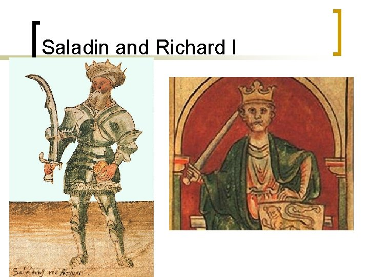 Saladin and Richard I