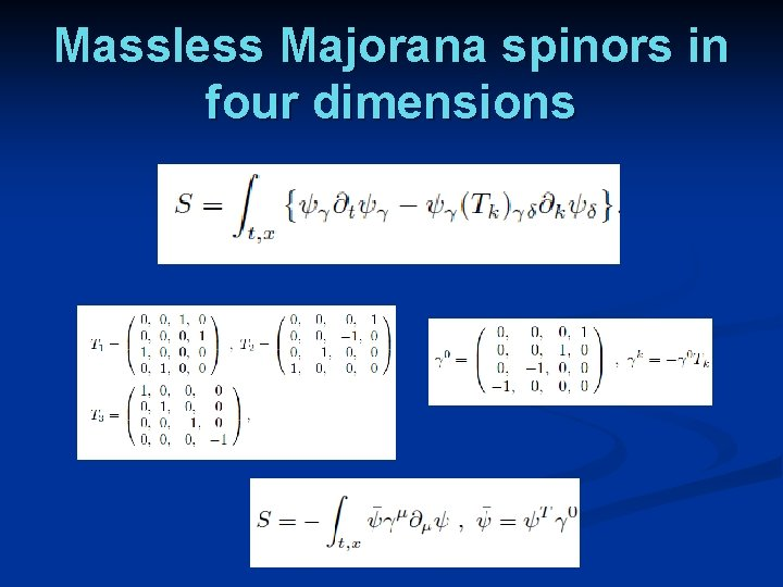 Massless Majorana spinors in four dimensions