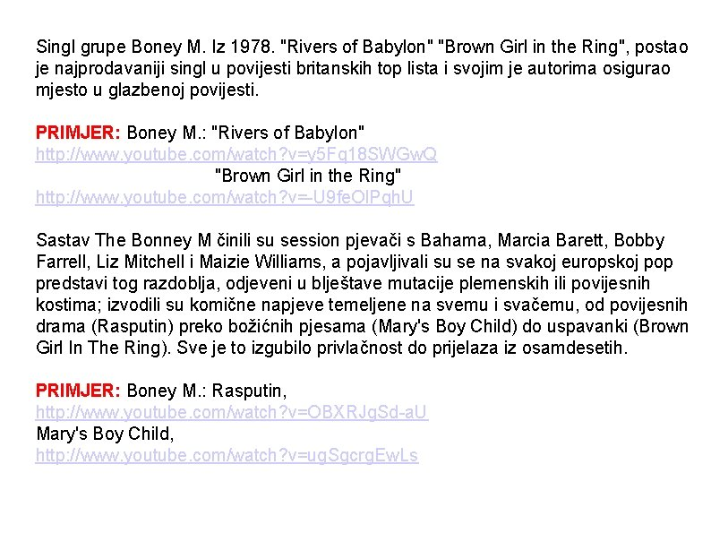 Singl grupe Boney M. Iz 1978.
