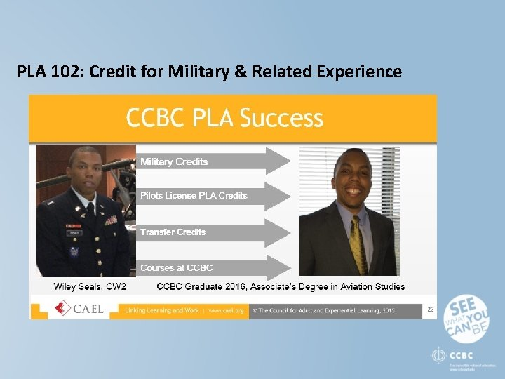PLA 102: Credit for Military & Related Experience