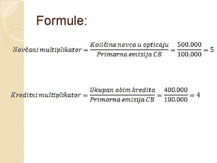 Formule: