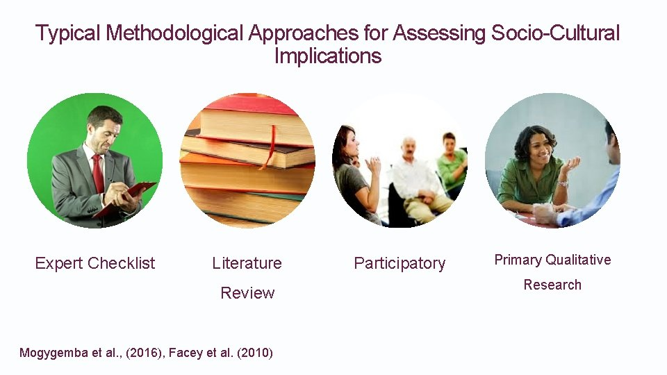 Typical Methodological Approaches for Assessing Socio-Cultural Implications Expert Checklist Literature Review Mogygemba et al.