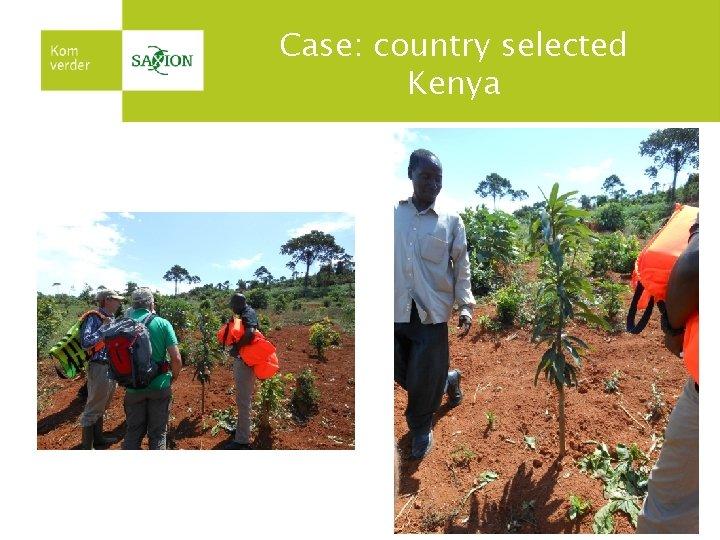 Case: country selected Kenya