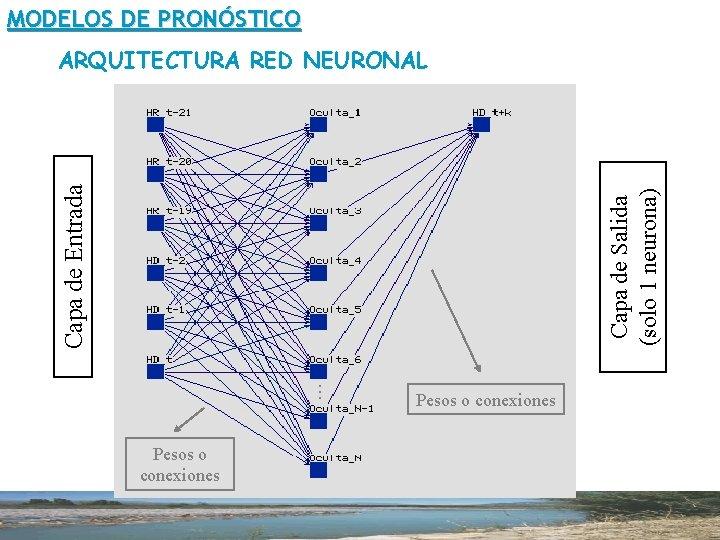 MODELOS DE PRONÓSTICO . . . Capa de Salida (solo 1 neurona) Capa de