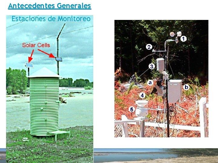 Antecedentes Generales Estaciones de Monitoreo