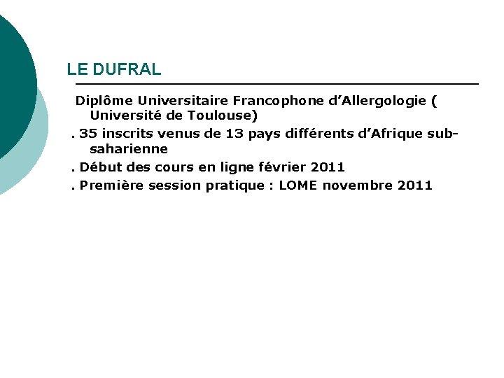 XIII RENCONTRES FRANCOPHONES DE FMC EN ALLERGOLOGIE - PDF Téléchargement Gratuit