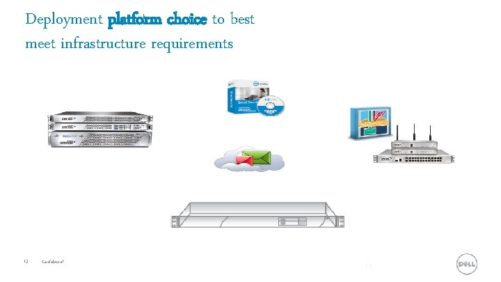Deployment platform choice to best meet infrastructure requirements 13 Confidential 13