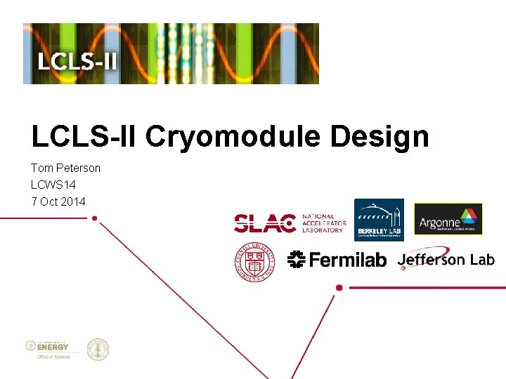LCLS-II Cryomodule Design Tom Peterson LCWS 14 7 Oct 2014