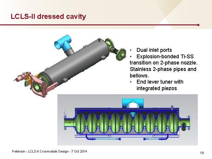 LCLS-II dressed cavity Ti stainless transition Peterson LCLS II Cryomodule Design 7 Oct 2014