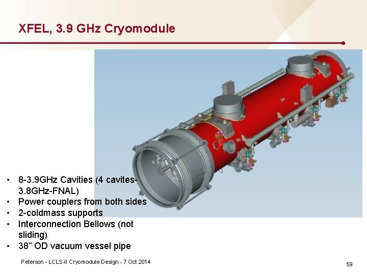XFEL, 3. 9 GHz Cryomodule • 8 3. 9 GHz Cavities (4 cavites 3.