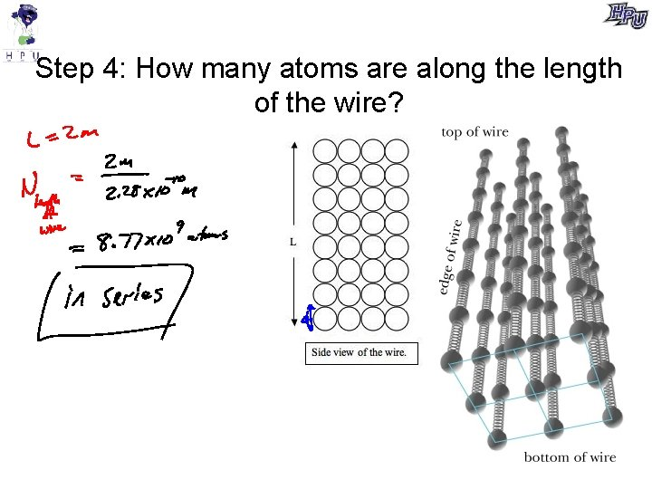 Step 4: How many atoms are along the length of the wire?