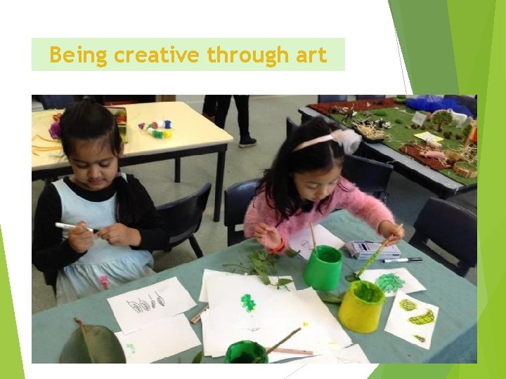 Being creative through art