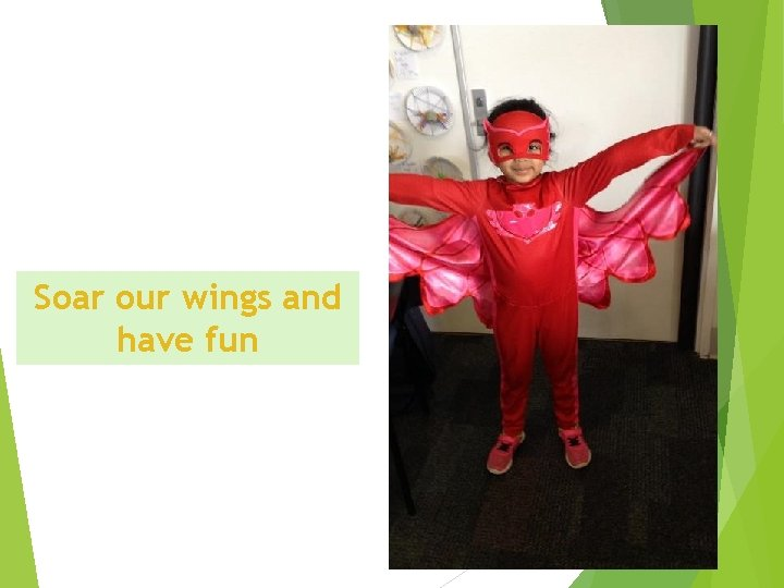 Soar our wings and have fun