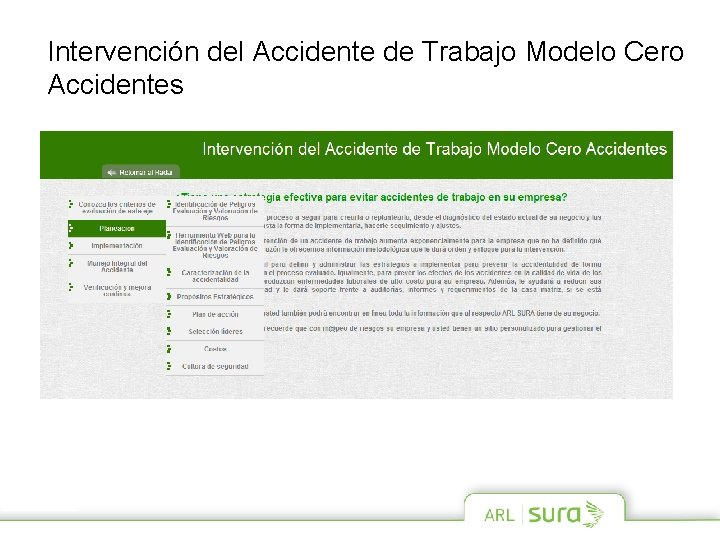 Intervención del Accidente de Trabajo Modelo Cero Accidentes