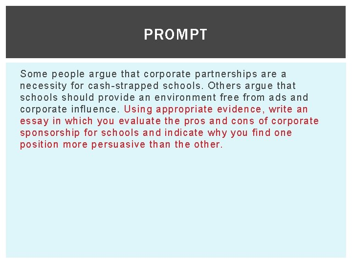 Corporate sponsorships in schools essays how to write a personal statement for dental school